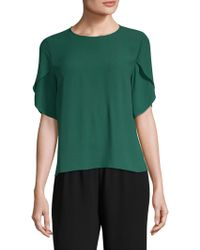 Eileen Fisher - Silk Tulip-sleeve Top - Lyst