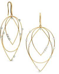 Lana Jewelry - Solo 3-tier Diamond Earrings - Lyst