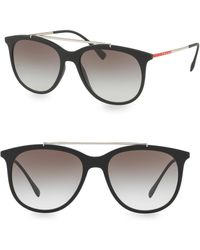 Prada - Linea Rossa 54mm Gradient Matte Black Sunglasses - Lyst