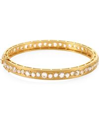 Bavna - 18k Gold & Diamond Bangle - Lyst