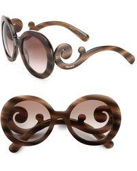 Prada - Oversized Baroque Round Sunglasses - Lyst