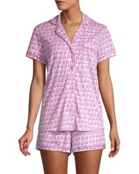 Roberta Roller Rabbit - Love Birds Polo Pajama Set - Lyst