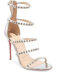31bb9188dcfe Christian Louboutin - Women s Forever Girl 100 Metallic Leather Slingback  Sandals - Gold - Size 40.5