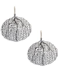 Annette Ferdinandsen - Sterling Silver And 18k White Gold Sea Fan Earrings - Lyst