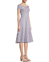MILLY - Rivera Stripe Knit Dress - Lyst
