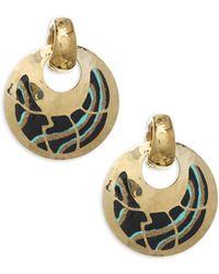 Gas Bijoux - Shagreen Post Earrings - Lyst
