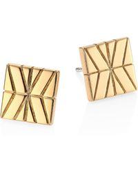 John Hardy - Modern Chain 18k Yellow Gold Stud Earrings - Lyst