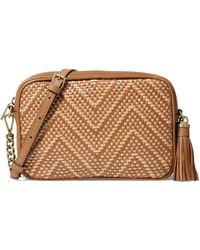 5c1c3d548b MICHAEL Michael Kors - Women's Medium Woven Camera Bag - Tan - Lyst