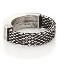 Title Of Work - Sterling Silver Mesh & Solid Ring - Lyst