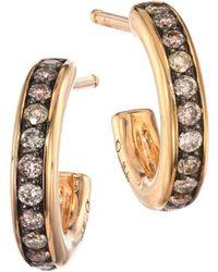 Pomellato - Iconica 18k Rose Gold & Brown Diamond Small Hoop Earrings - Lyst