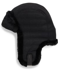 UGG - Woven Shearling Trapper Hat - Lyst