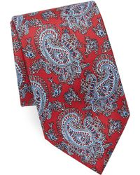 Brioni - Outlined Paisley Silk Tie - Lyst