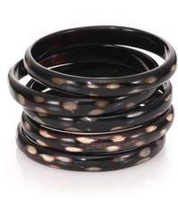 Nest - Spotted Horn Five-bangle Bracelet Set - Lyst