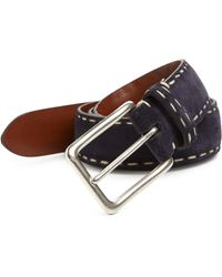 Saks Fifth Avenue - Contrast Stitched Suede Belt - Lyst