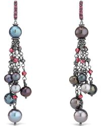 David Yurman - Oceanica Fringe Earrings With Grey Pearls And Hematine - Lyst