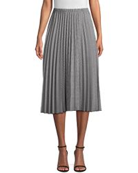 Donna Karan - Pleated A-line Skirt - Lyst