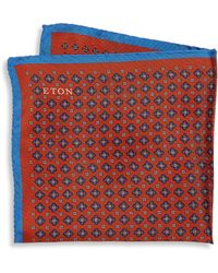 Eton of Sweden - Floral Silk Pocket Square - Lyst