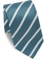 Eton of Sweden - Striped Linen & Silk Tie - Lyst