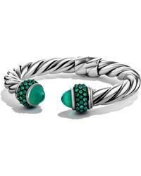 David Yurman - Cable Berries Gemstone & Stainless Steel Bracelet - Lyst