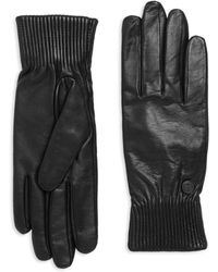 Canada Goose - Ribbed Leather Gloves - Lyst
