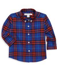 9c061fbb Burberry - Baby Boy's & Little Boy's Fred Plaid Button-down Shirt -  Sapphire Blue