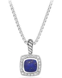David Yurman - Petite Albion Pendant Necklace With Green Onyx And Diamonds - Lyst
