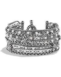 David Yurman - Starburst Chain Bracelet With Pearls - Lyst