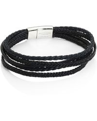 Tateossian - Cobra Multi-strand Leather Bracelet - Lyst