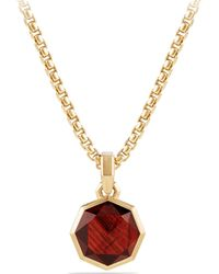 David Yurman - The Fortune 18k Yellow Gold & Garnet Faceted Amulet - Lyst