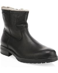Mephisto - Leonardo Leather & Shearling Boots - Lyst