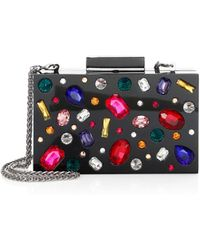 Alice + Olivia - Jewelled Lucite Clutch - Lyst