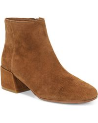 Vince - Ostend Pewter Suede Booties - Lyst
