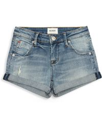 Hudson Jeans - Girls Rolled Jean Shorts - Lyst