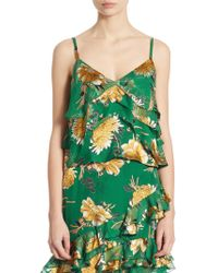 Alice + Olivia - Vanessa Tiered Floral-print Camisole - Lyst