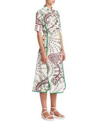 Valentino | Leopard Illustration Print Poplin Shirt Dress | Lyst