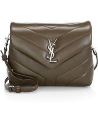abc3cd34da49 Lyst - Saint Laurent Monogram Universite Medium Leather Crossbody ...