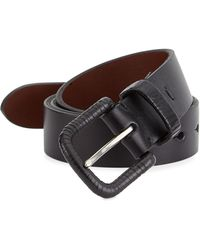 Saks Fifth Avenue - Collection Leather Wrapped Buckle Belt - Lyst