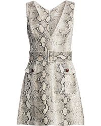 Zimmermann - Women's Corsage Linen Python Print Dress - Python - Size 1 (4-6) - Lyst