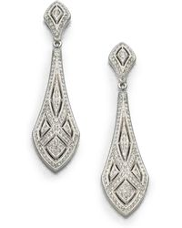 Adriana Orsini - Art Deco Crystal Drop Earrings - Lyst