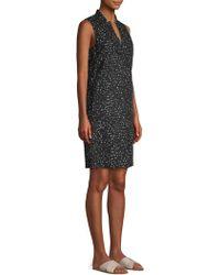Eileen Fisher - Dot Print Organic Cotton Dress - Lyst