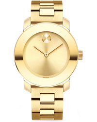 Movado - Bold Analog Stainless Steel Bracelet Watch - Lyst
