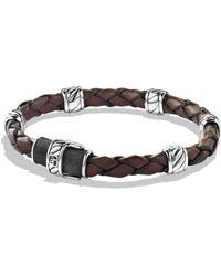 David Yurman - Cable Collectionsterling Silver & Leather Bracelet - Lyst