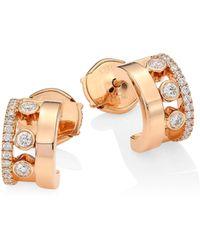 Messika - Move Romane 18k Rose Gold & Diamond Mini Creole Earrings - Lyst