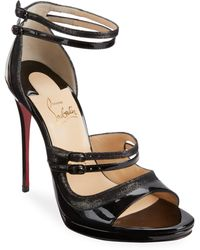 Christian Louboutin - Sotto 120 Leather Sandals - Lyst