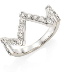 Hearts On Fire - Triplicity Diamond, Crystal & 18k White Gold Pointed Diamond Ring - Lyst