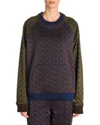 Marni - Women's Printed Jersey Sweatshirt - Raisin/blue - Size 46 (10) - Lyst