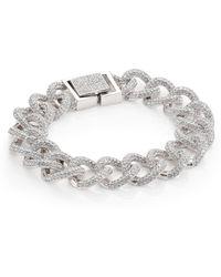 Adriana Orsini - Pave Curb Chain Bracelet - Lyst