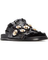 MERCEDES CASTILLO - Loula Leather Slide Sandals - Lyst