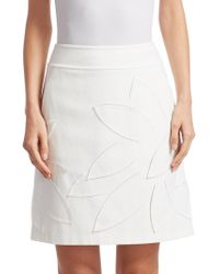 Akris Punto - Laser Cut A-line Mini Skirt - Lyst
