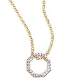 Phillips House - Open Petite Hero Diamond & 14k Yellow Gold Pendant Necklace - Lyst